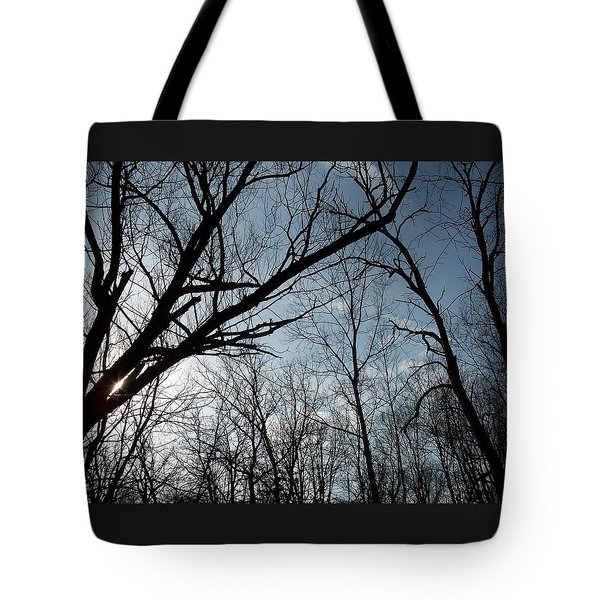 Icy Winter Sky Tote Bag