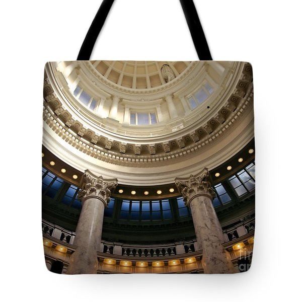 Tote Bag featuring the photograph Idaho Capitol Half Dome by Patricia Strand