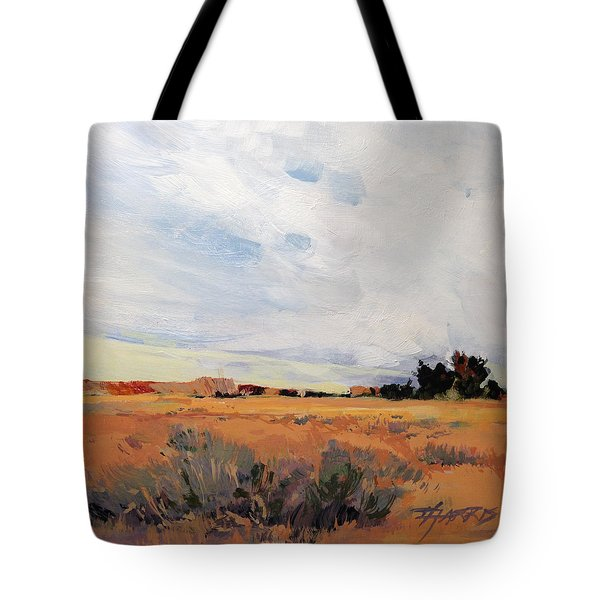 Tote Bag featuring the painting Idaho by Helen Harris