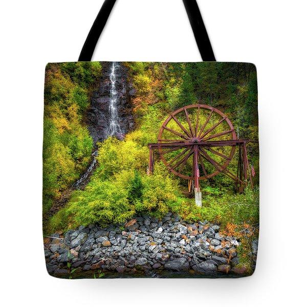 Idaho Springs Water Wheel Tote Bag
