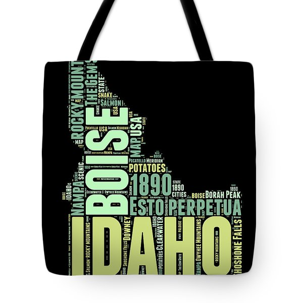 Idaho Word Cloud 1 Tote Bag