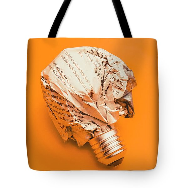 Ideas And Words Tote Bag