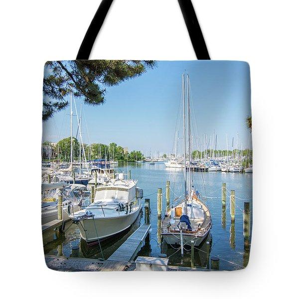 Idle Boats Tote Bag