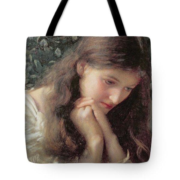 Idle Tears Tote Bag by Edward Robert Hughes