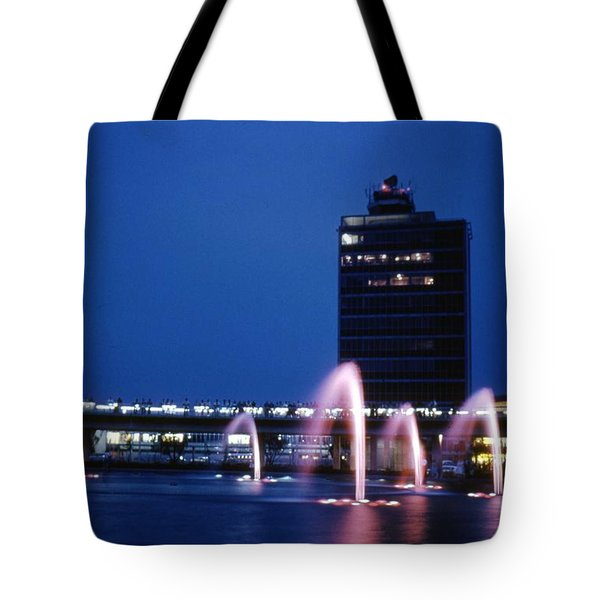 Tote Bag featuring the photograph Idlewild Fountain And Tower by John Schneider