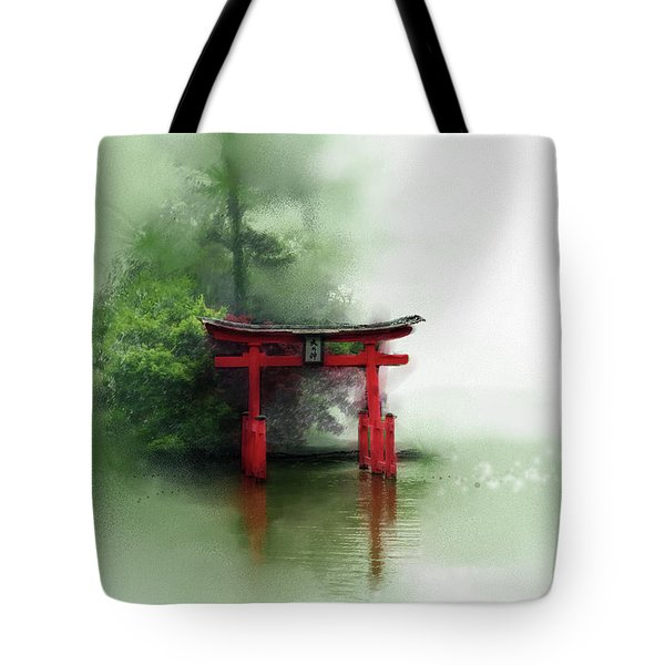 Tote Bag featuring the digital art Idyll by Gina Harrison