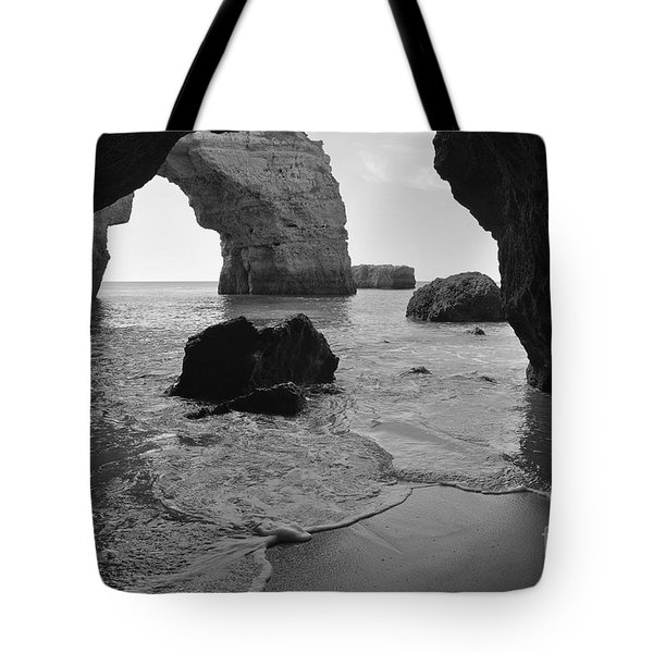 Idyllic Cave In Monochrome Tote Bag