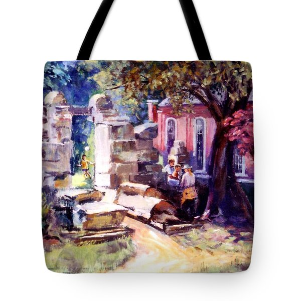 Tote Bag featuring the painting Idyllic Landscape by Stan Esson
