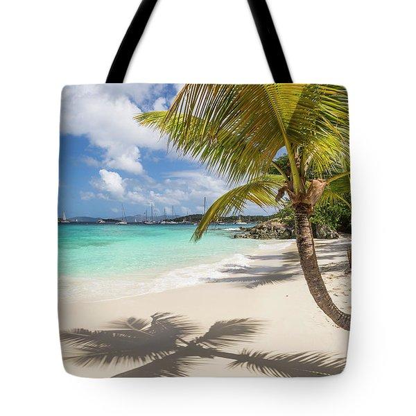 Tote Bag featuring the photograph Idyllic Salomon Beach by Adam Romanowicz