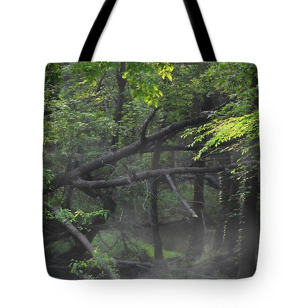 Tote Bag featuring the photograph If A Tree Falls In The Woods by Skip Willits