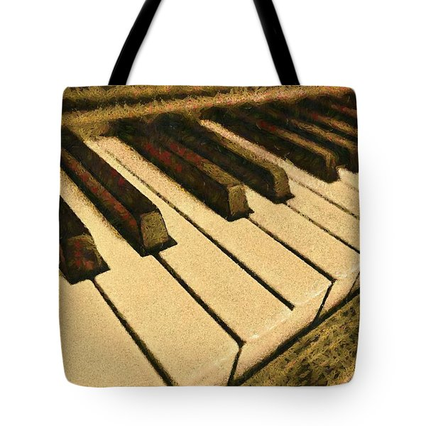 Tote Bag featuring the painting If Monet Played by Harry Warrick