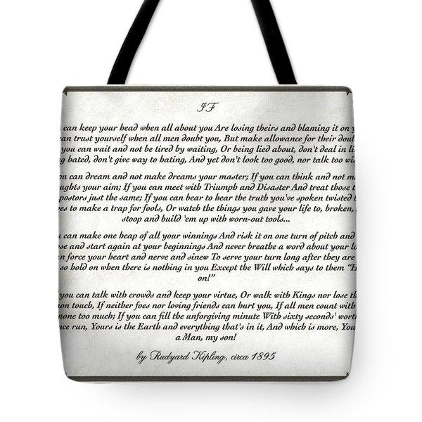 If Poem By Rudyard Kipling Tote Bag