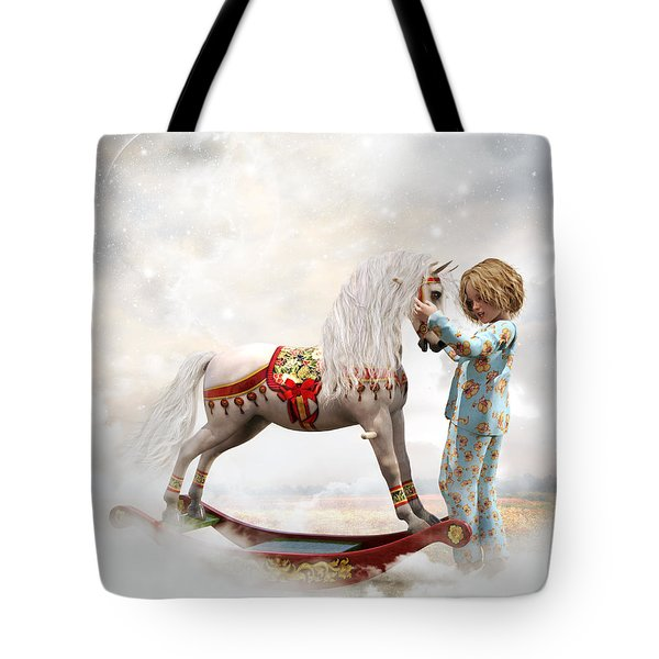 Tote Bag featuring the digital art If We Believe by Shanina Conway