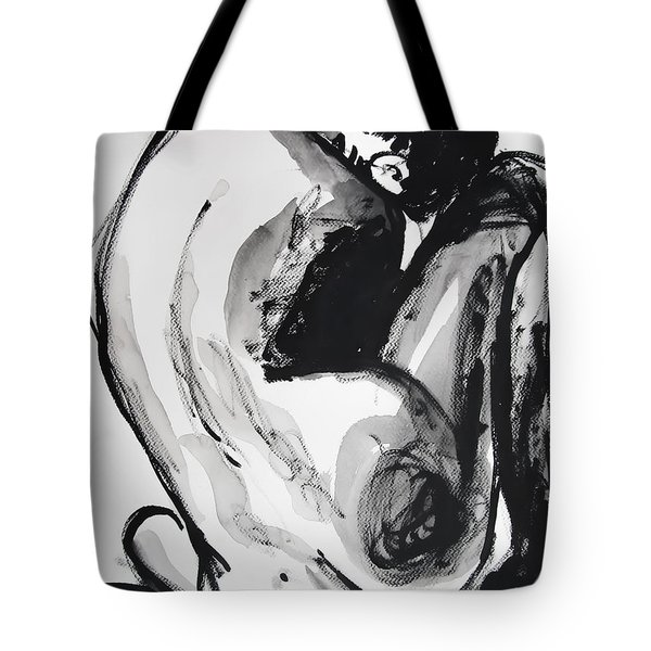 Tote Bag featuring the painting If You Leave Me Now by Jarko Aka Lui Grande