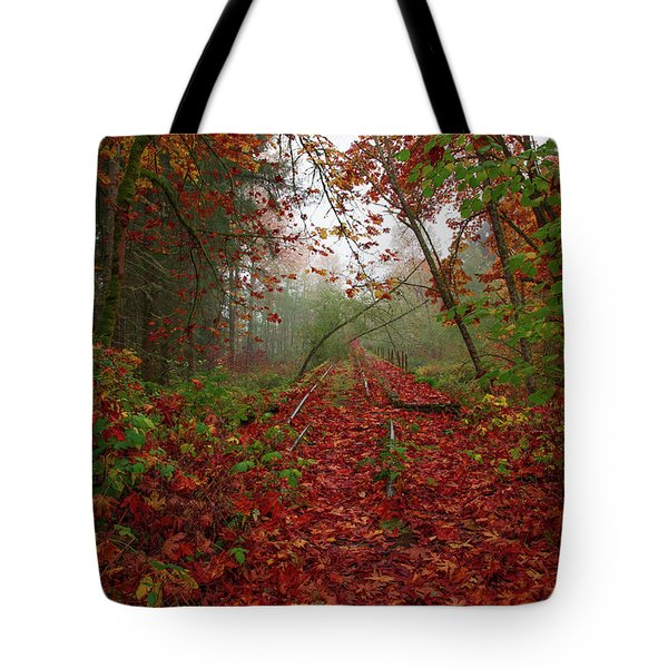 If Your Train Of Thought Is Going Nowhere Change Tracks.  Tote Bag
