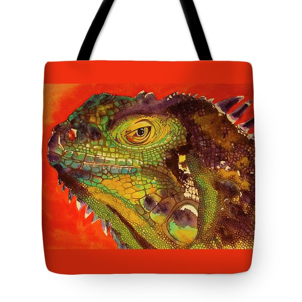 Tote Bag featuring the painting Iggy by Cynthia Powell
