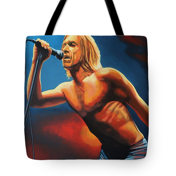 Iggy Pop Painting Tote Bag