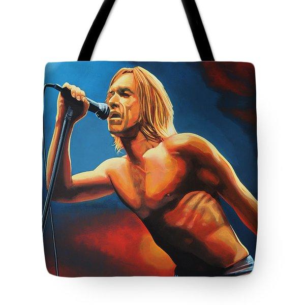Iggy Pop Painting Tote Bag