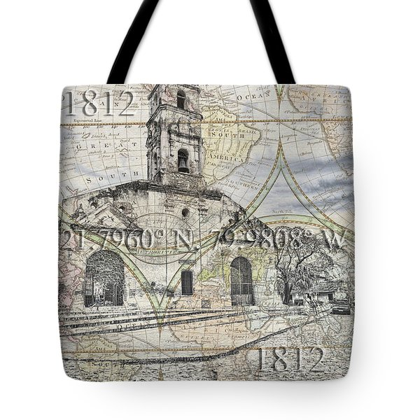 Iglesia De Santa Ana Passport Tote Bag