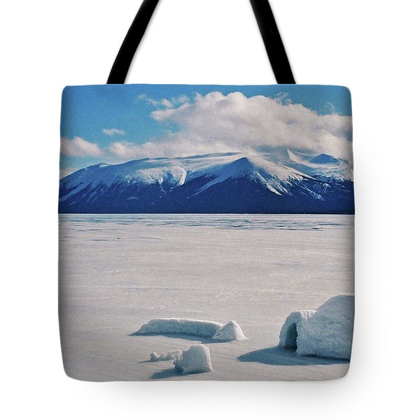 Igloo On Atlin Lake - Bc Tote Bag by Juergen Weiss