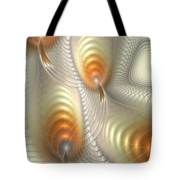 Tote Bag featuring the digital art Ignis Fatuus by Anastasiya Malakhova