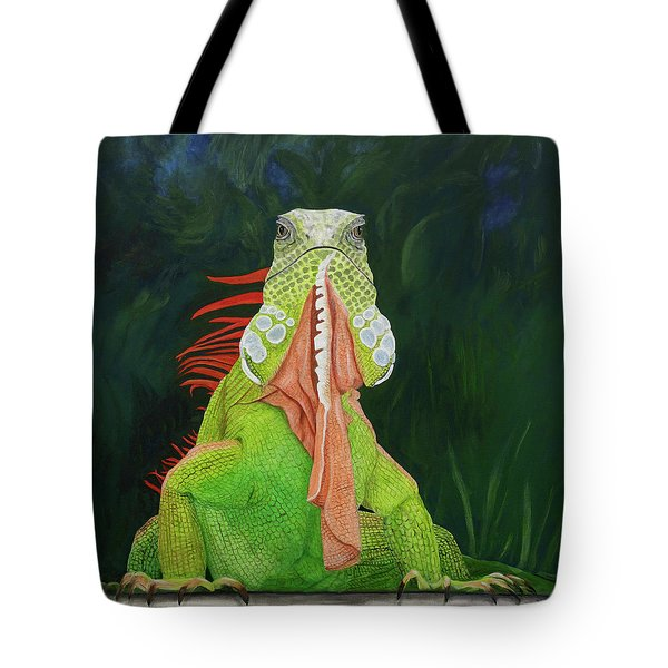 Iguana Dude Tote Bag