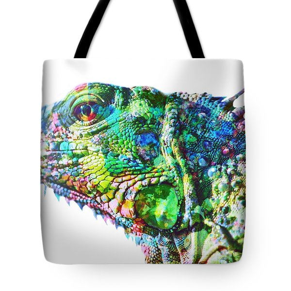 Tote Bag featuring the painting Iguana by Mark Taylor