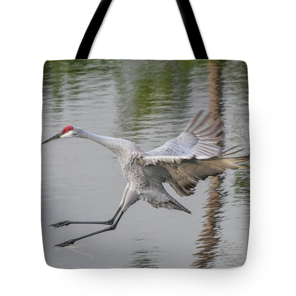 Ike The Crane's Grouchy Day Tote Bag