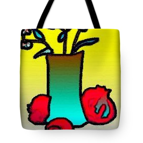 Tote Bag featuring the digital art Ikibana by Rae Chichilnitsky