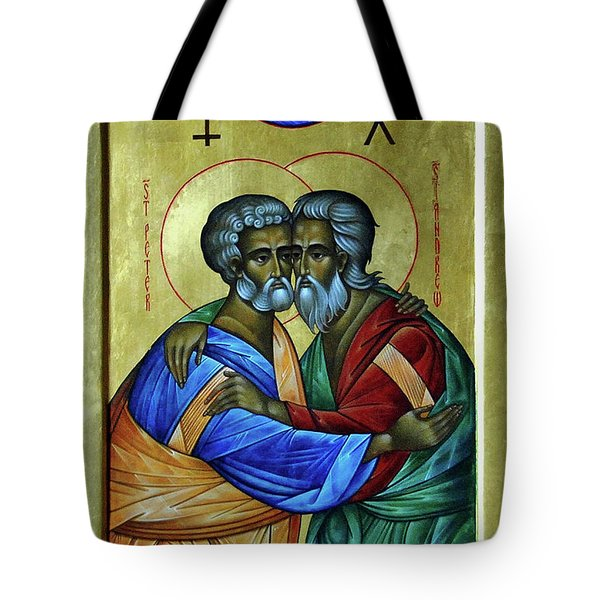 Tote Bag featuring the photograph Ikon Sts. Peter And Andrew by John Schneider