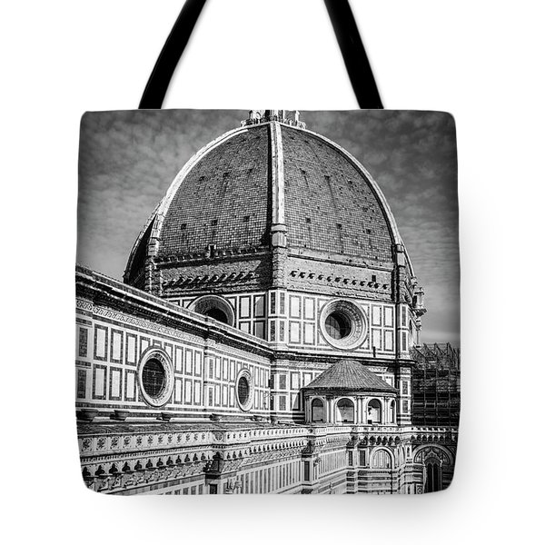 Tote Bag featuring the photograph Il Duomo Florence Italy Bw by Joan Carroll