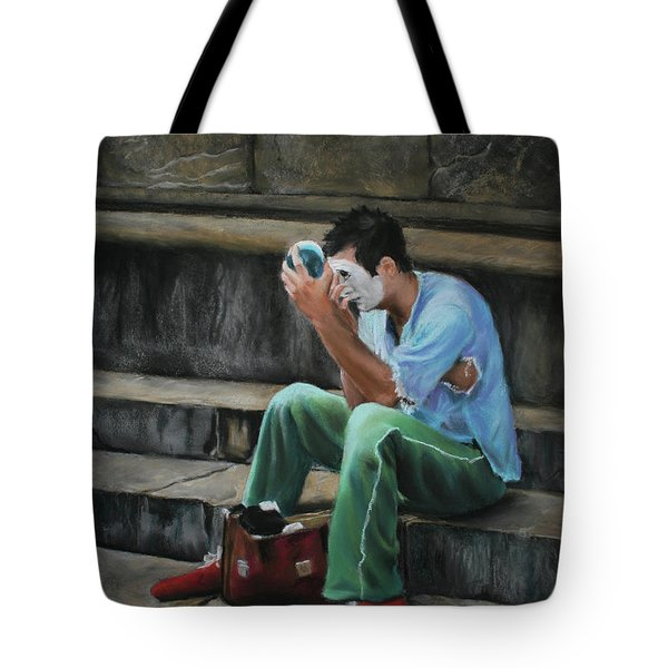 Il Mimo - The Mime Florence Italy Tote Bag by Kelly Borsheim