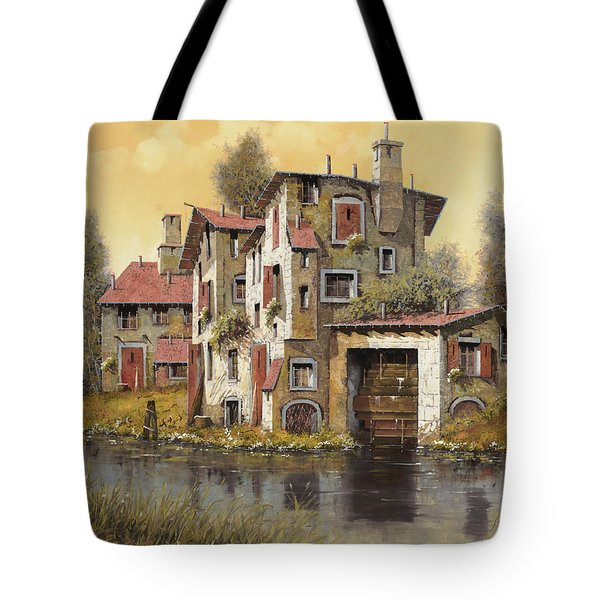 Il Mulino Giallo Tote Bag by Guido Borelli