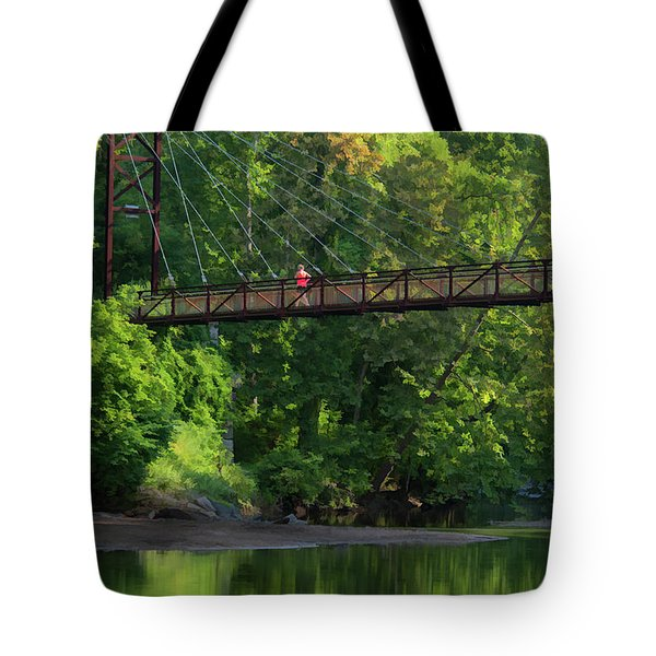 Ilchester-patterson Swinging Bridge Tote Bag