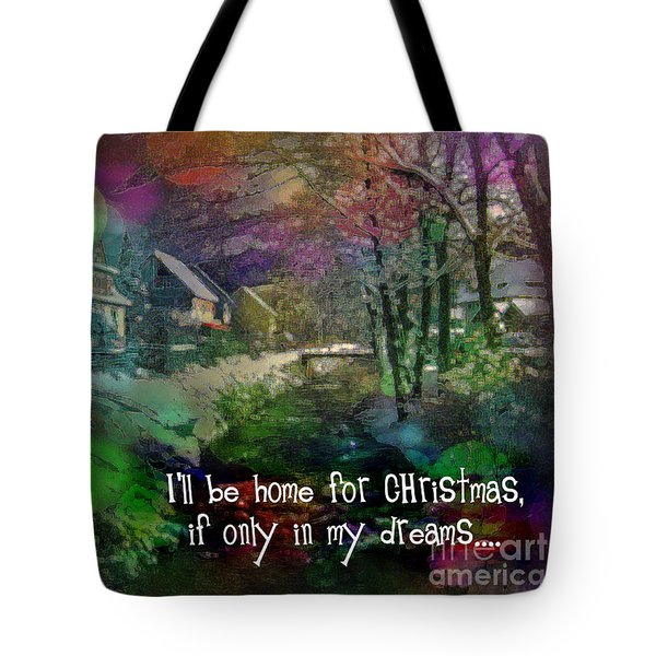 Tote Bag featuring the digital art I'll Be Home Card 2016 by Kathryn Strick