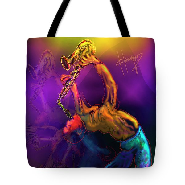 Tote Bag featuring the painting I'll Bend Over Backwards For Your Love by DC Langer
