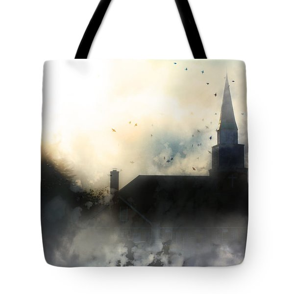 Tote Bag featuring the painting I'll Fly Away by Gray  Artus