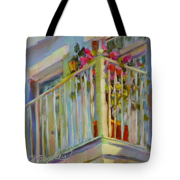 I'll Leave The Porch Light On Tote Bag by Chris Brandley