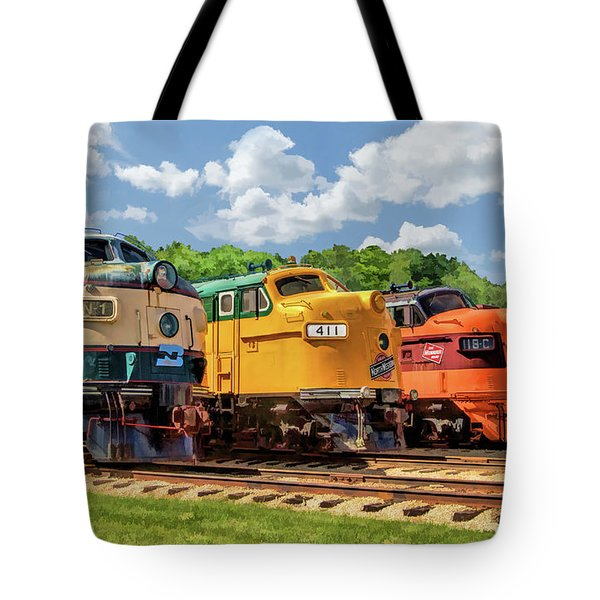 Illinois Railway Museum Diesel Locomotives Tote Bag