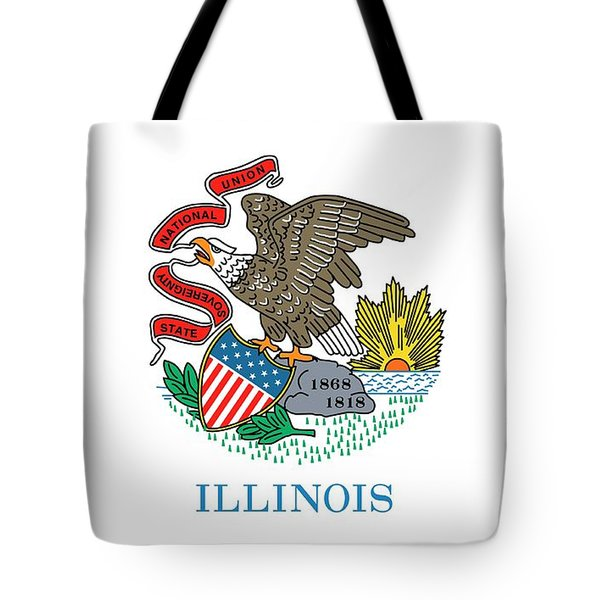 Illinois State Flag Tote Bag by American School
