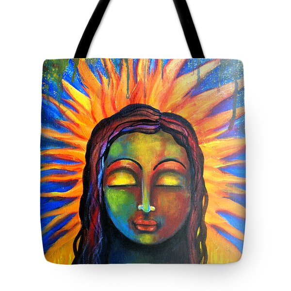 Illuminated By Her Own Radiant Self Tote Bag by Prerna Poojara