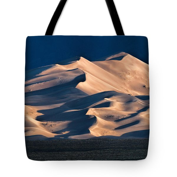 Illuminated Sand Dunes Tote Bag
