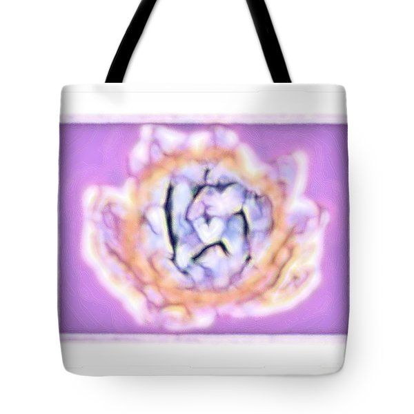 Illuminated Water Lily Tote Bag by Shirley Moravec