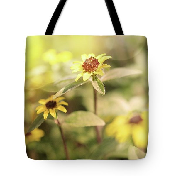 Illuminated Zinnia Tote Bag