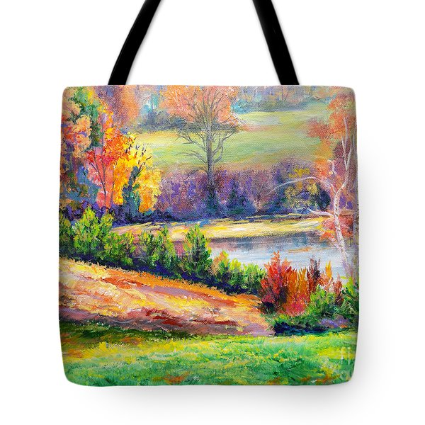 Illuminating Colors Of Fall Tote Bag by Lee Nixon