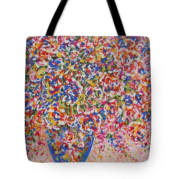 Tote Bag featuring the painting Illumination by Natalie Holland