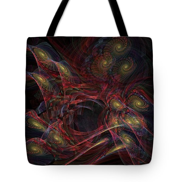 Tote Bag featuring the digital art Illusion And Chance - Fractal Art by NirvanaBlues