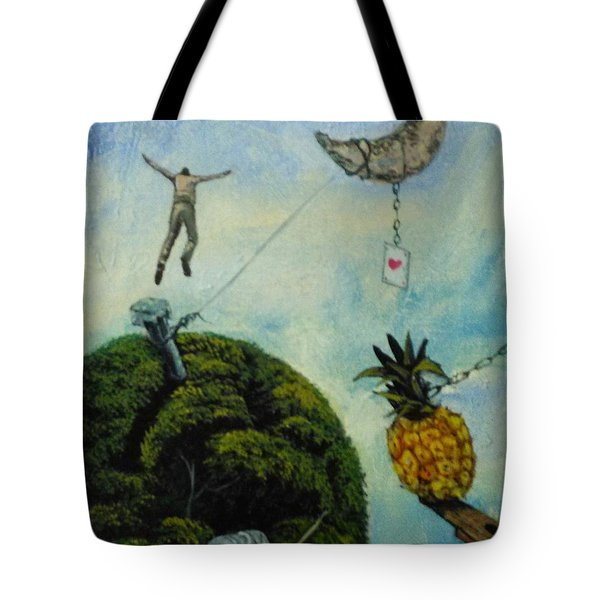 Illusions That Fall At Dawn Tote Bag