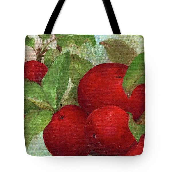 Illustrated Apples Tote Bag by Judith Cheng