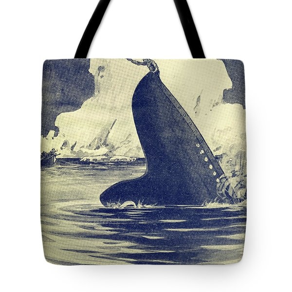 Illustration Of Man On Stern Of The Tote Bag